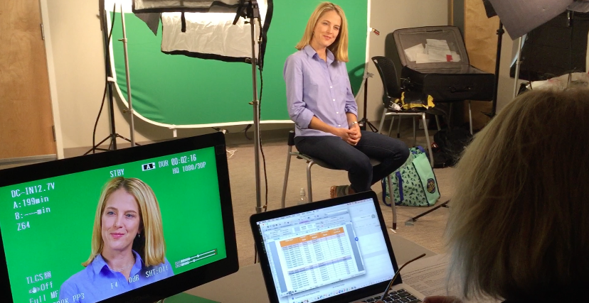 Carrie Wilkens, PhD and Co-founder of The Center for Motivation and Changes in Western Massachusetts shooting scenes with the Out To See Entertainment team.